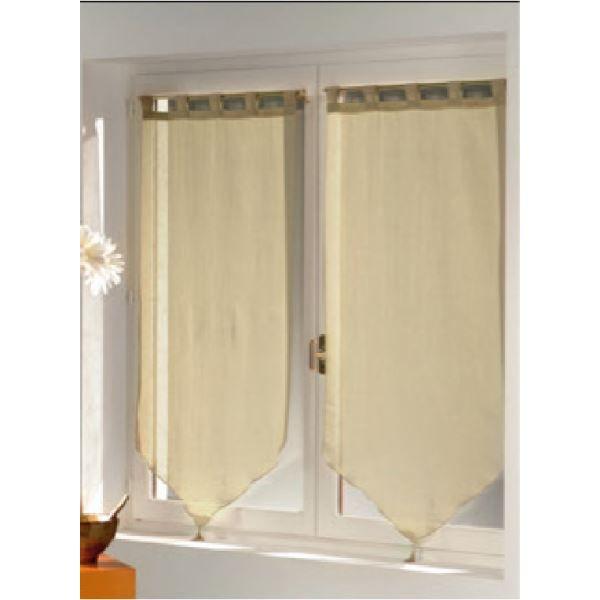 Paire de voilage 2x60x120 lin achat vente rideau lin - Paire de voilage ...