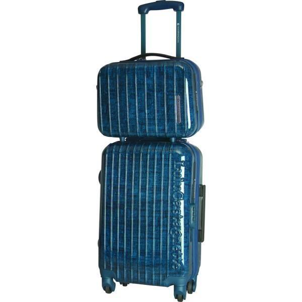 bagage lulu castagnette valise cabine vanity rigide bleu achat vente set de valises bagage. Black Bedroom Furniture Sets. Home Design Ideas