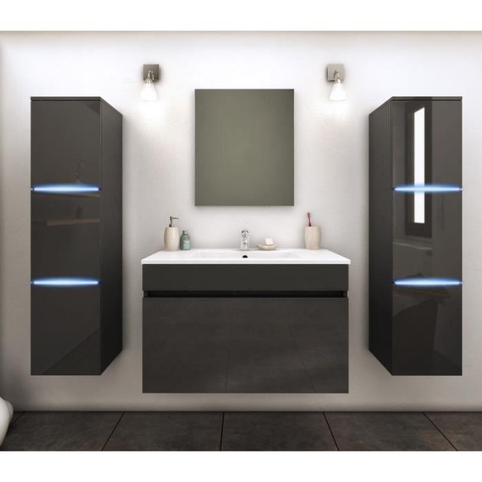 Paris prix ensemble meuble salle de bain lecce 80cm for Salle de bain paris