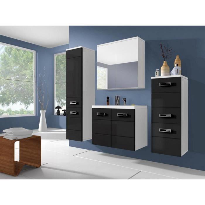 meubles salle de bain noir et blanc achat vente. Black Bedroom Furniture Sets. Home Design Ideas