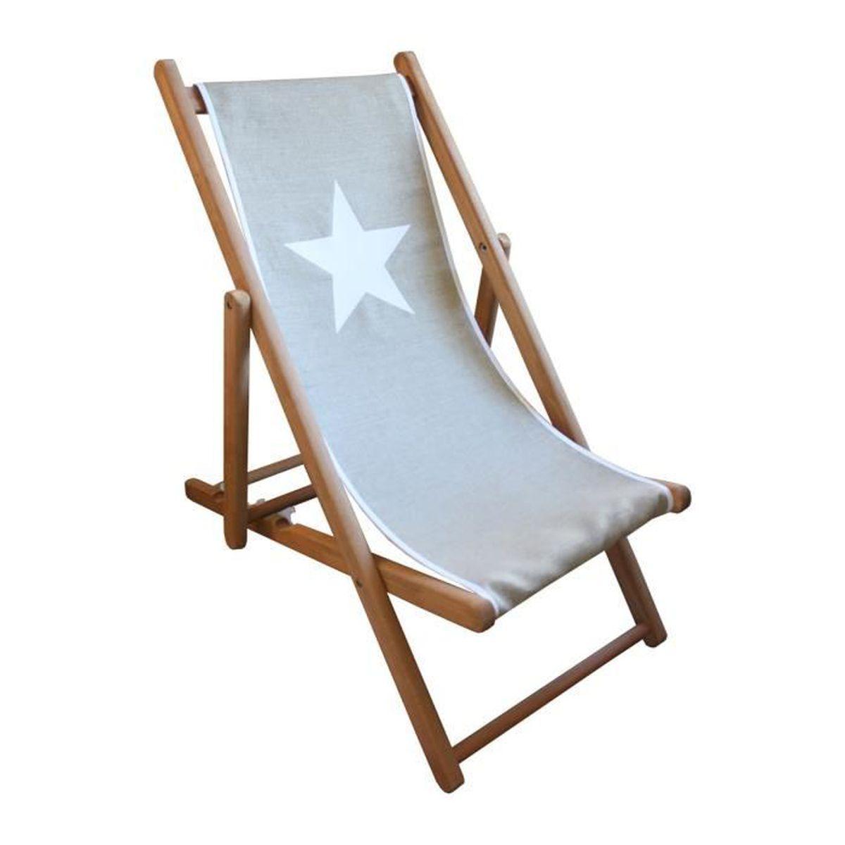 Chaise longue en toile transats bains de soleil et for Chaise longue en toile