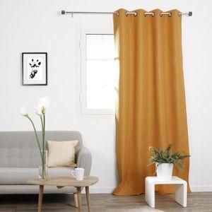 rideaux jaune moutarde achat vente rideaux jaune. Black Bedroom Furniture Sets. Home Design Ideas