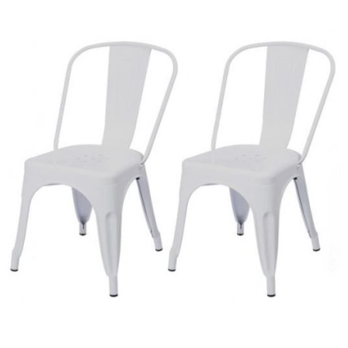 2 chaises de cuisine salon salle manger design m tal for Chaise salon a manger