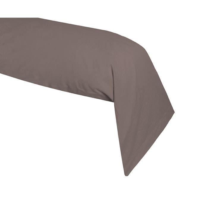 taie de traversin coton 57 fils taupe 45 x 185 cm achat vente taie d 39 oreiller cdiscount. Black Bedroom Furniture Sets. Home Design Ideas