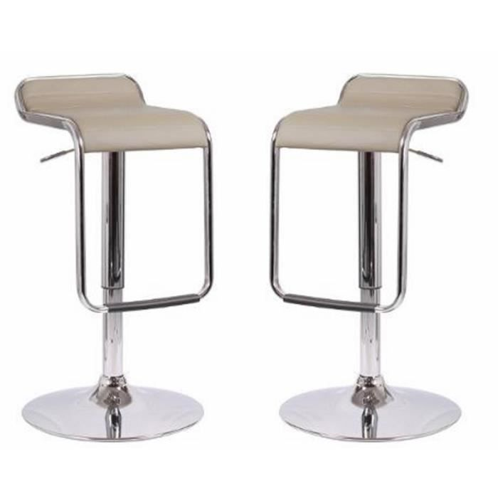 lot de 2 tabourets de bar cosmo taupe paris prix. Black Bedroom Furniture Sets. Home Design Ideas