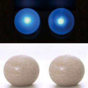 LAMPE A POSER 2 Lampes perles et bougies boule taupe