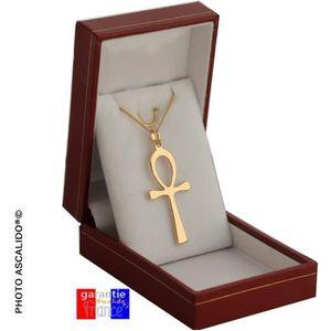 SAUTOIR ET COLLIER Pendentif Grand ANKH croix ansée egyptienne en vra
