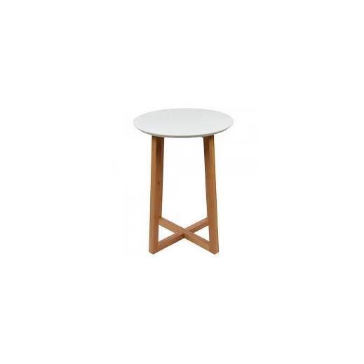 table gu ridon blanc achat vente table d 39 appoint table gu ridon blanc cdiscount. Black Bedroom Furniture Sets. Home Design Ideas