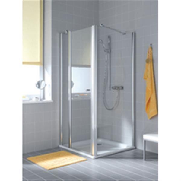rothalux paroi fixe pour montage avec une porte atea twd 08020 vpr argent poli verre clair. Black Bedroom Furniture Sets. Home Design Ideas