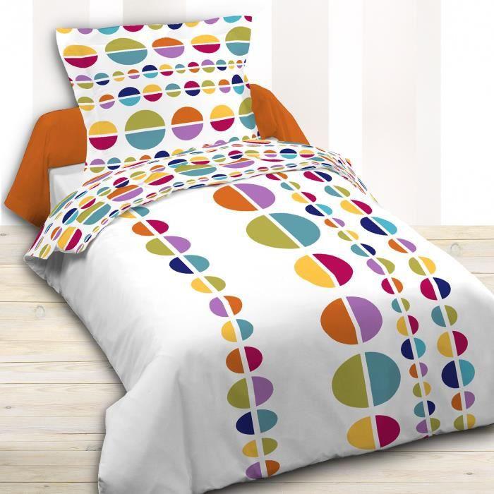 housse de couette 140x200 ronda 1 taie achat vente housse de couette cadeaux de no l. Black Bedroom Furniture Sets. Home Design Ideas