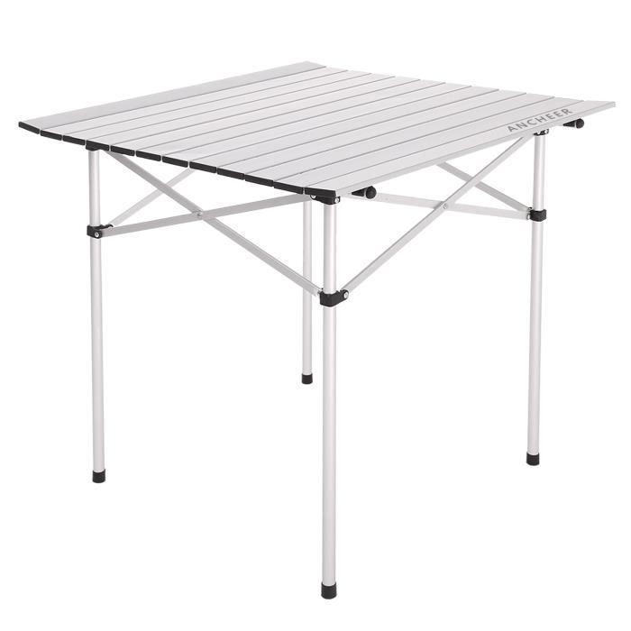 nouvelle ancheer table de jardin portable aluminium retrousser table pliante camping pique nique. Black Bedroom Furniture Sets. Home Design Ideas