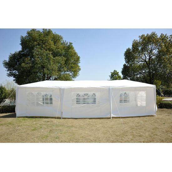Tente de r ception tonnelle 3x9m blanc achat vente tonnelle barnum tonnelle cdiscount Tente de jardin metro