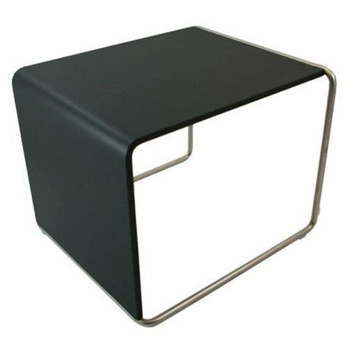 Table d 39 appoint lapalma ueno ch ne noir achat vente for Table d appoint noire