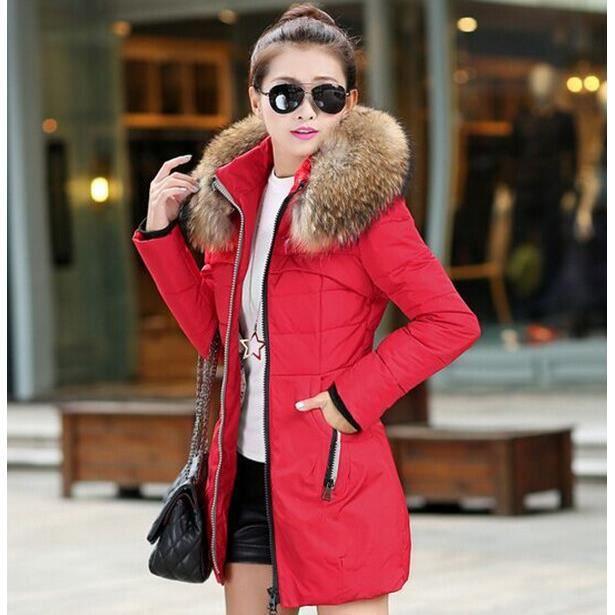 nouvelle arriv e veste d 39 hiver les femmes paississent le winter bas fur manteau collar. Black Bedroom Furniture Sets. Home Design Ideas