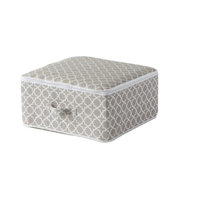 Compactor housse de rangement madison taupe et blanc for Compactor housse