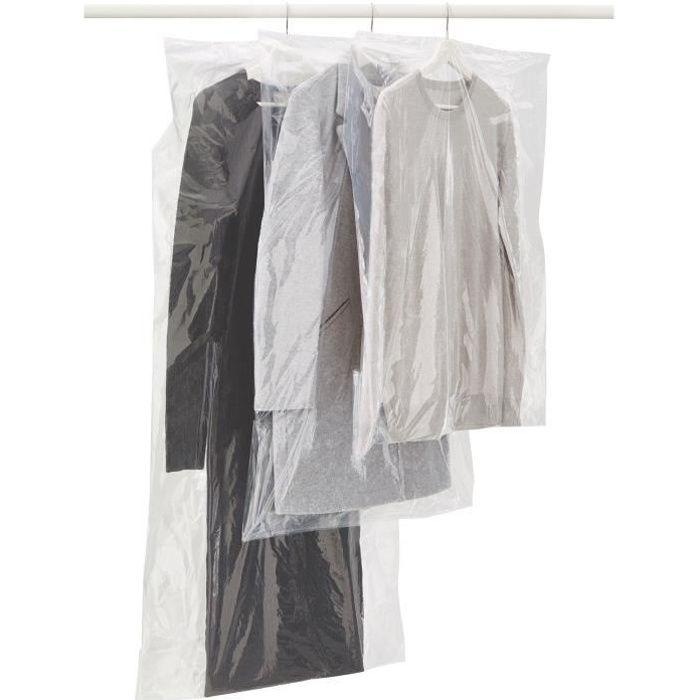 lot de 3 housses pour v tement 65x150 cm achat vente housse de rangement housse pour. Black Bedroom Furniture Sets. Home Design Ideas