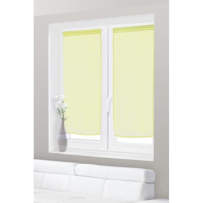 paire de voilage vitrage effet lin 60x120 cm vert achat vente rideau voilage cdiscount. Black Bedroom Furniture Sets. Home Design Ideas