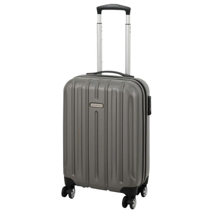 bagage roncato valise cabine 4 roues antracite achat vente valise bagage bagage roncato. Black Bedroom Furniture Sets. Home Design Ideas