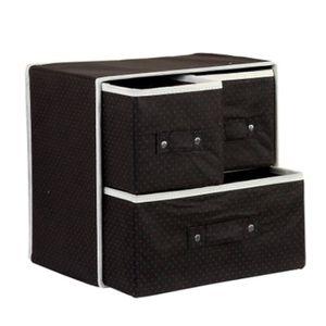 boite rangement vetement noir achat vente boite rangement vetement noir pas cher les. Black Bedroom Furniture Sets. Home Design Ideas