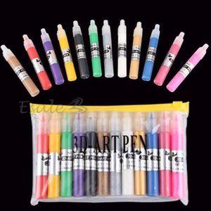 VERNIS A ONGLES 12 X Stylo De Peinture 3D Pinceau Multicolore P…