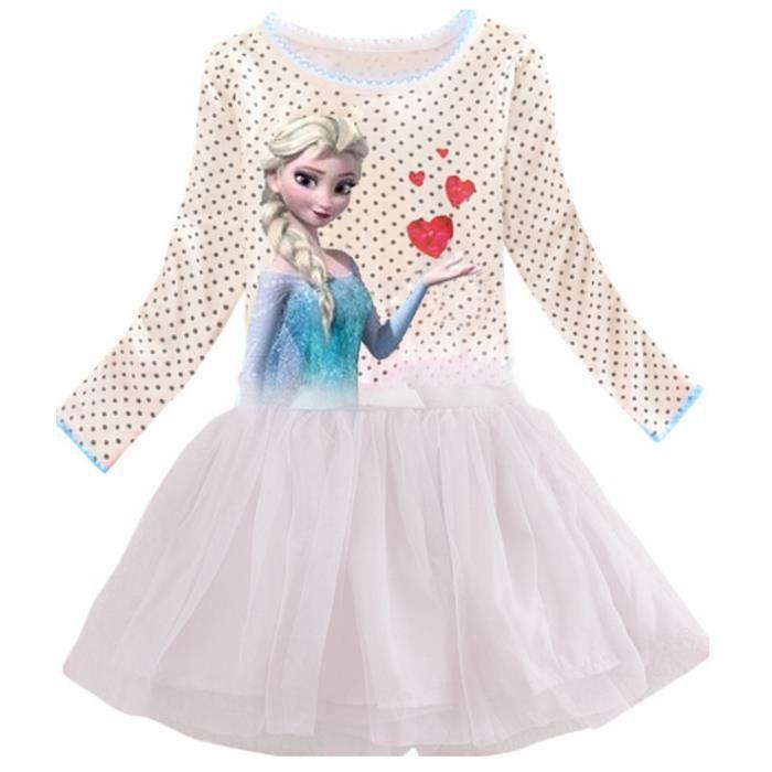 Robe princesse fille reine des neiges 5 6 ans achat - Princesse reine des neiges ...