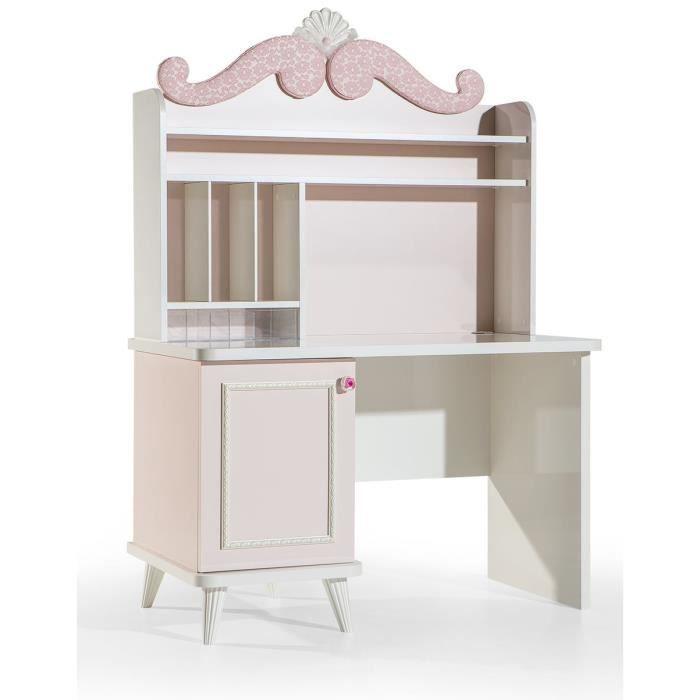 Bureau Design Rose Clair Pour Chambre D Enfant Achat