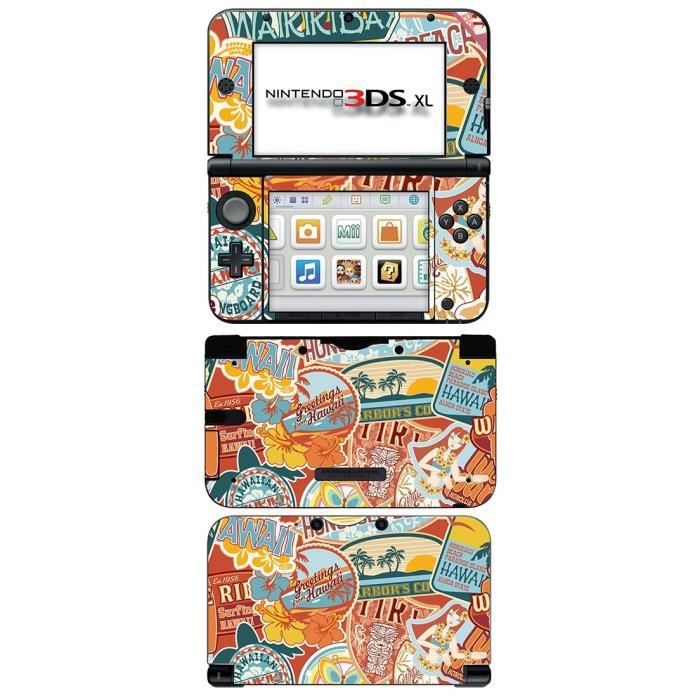 skin stickers pour nintendo 3ds xl sticker hawaii. Black Bedroom Furniture Sets. Home Design Ideas