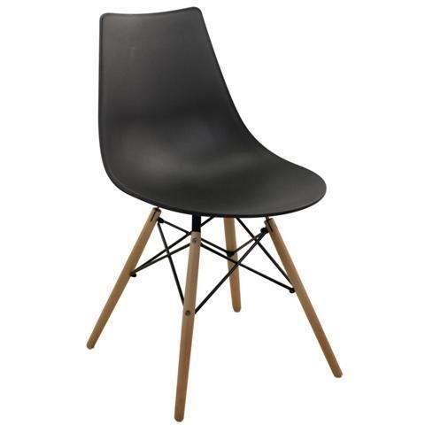 Chaise noir en resine 79 cm achat vente chaise r sine - Chaise jardin resine ...