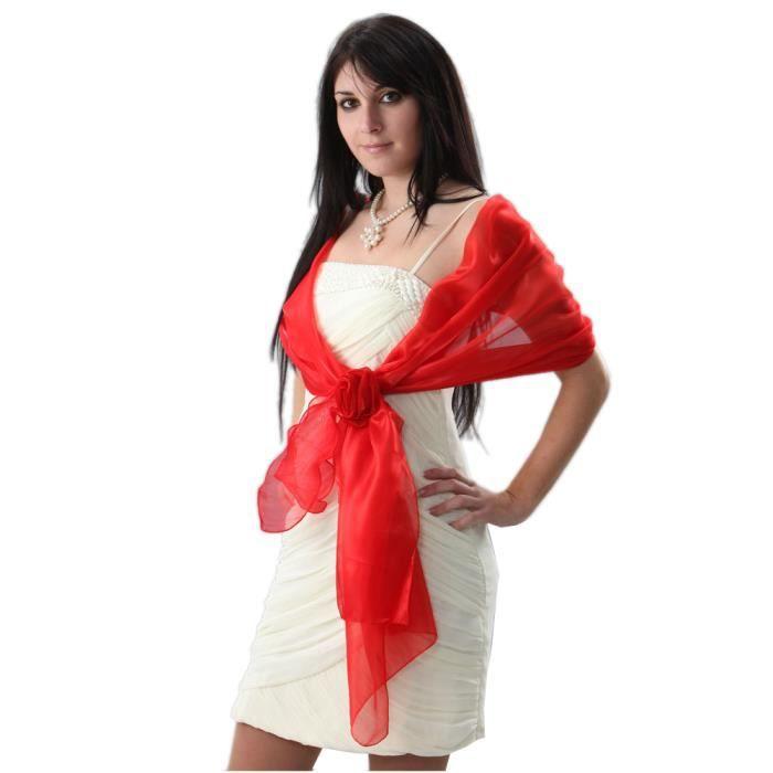 etole de c r monie femme rouge taille unique rouge achat vente echarpe foulard. Black Bedroom Furniture Sets. Home Design Ideas