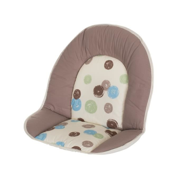 Geuther coussin de chaise tissu matelass th me pois achat vente chaise haute 4010221041474 - Tissu matelasse pour bebe ...