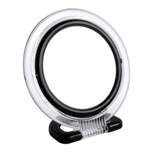 miroir rond noir achat vente miroir plastique cdiscount. Black Bedroom Furniture Sets. Home Design Ideas