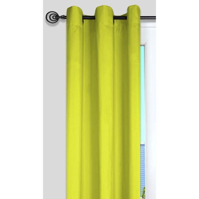 Rideau nelson anis 135x240cm achat vente rideau - Rideau vert anis ...