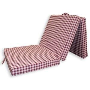 matelas pliable en 3 lilas carreaux rouges e achat vente matelas cdiscount. Black Bedroom Furniture Sets. Home Design Ideas
