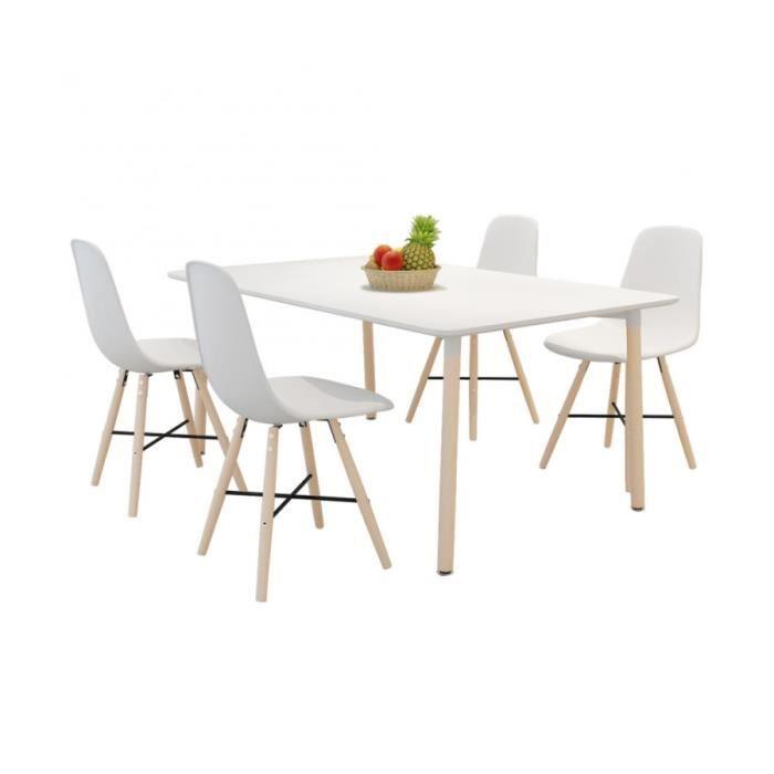 Superbe set de 4 chaises de salle manger avec pieds en - Chaises de table a manger ...