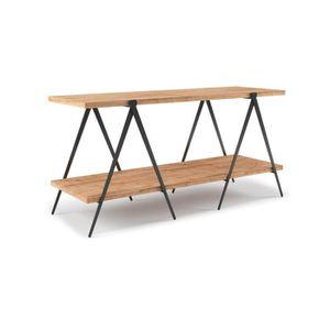 console meuble bois metal achat vente console meuble bois metal pas cher soldes cdiscount. Black Bedroom Furniture Sets. Home Design Ideas