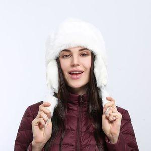 BONNET - CAGOULE EOZY Bonnet Femme Chapka Cache-oreilles Blanc Épai