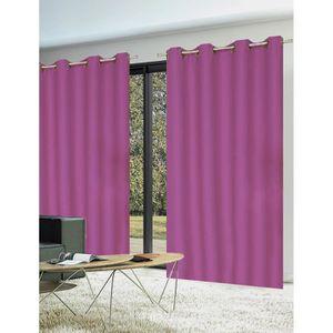 rideaux rose achat vente rideaux rose pas cher cdiscount. Black Bedroom Furniture Sets. Home Design Ideas