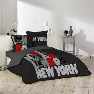 Parure de lit noir achat vente parure de lit noir pas for Parure de lit paris