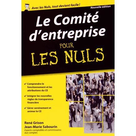 Le Comit D 39 Entreprise Pour Les Nuls Achat Vente Livre