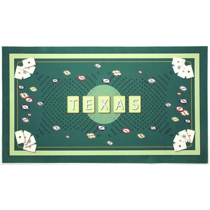 Tapis de jeu de poker texas vert achat vente tapis de jeu de carte cdiscount Tapis de jeux de carte