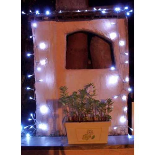 Guirlande Solaire 60 Leds Blanches Clignoteme Achat