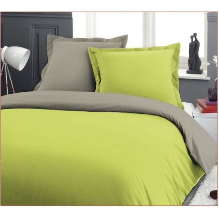 parure de lit 1 personne beige vert tarantula 100 x 200 cm. Black Bedroom Furniture Sets. Home Design Ideas