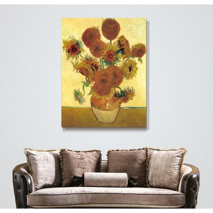 tableau fleur peint a la main achat vente tableau fleur peint a la main pas cher cdiscount. Black Bedroom Furniture Sets. Home Design Ideas