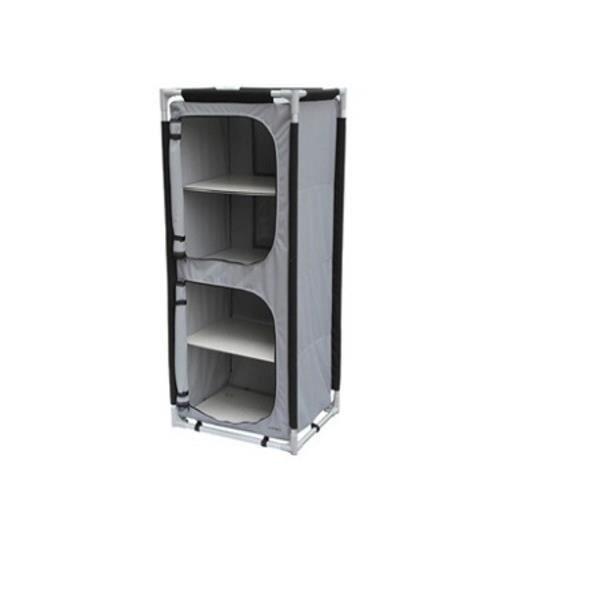 armoire de rangement de camping pliable gris achat. Black Bedroom Furniture Sets. Home Design Ideas