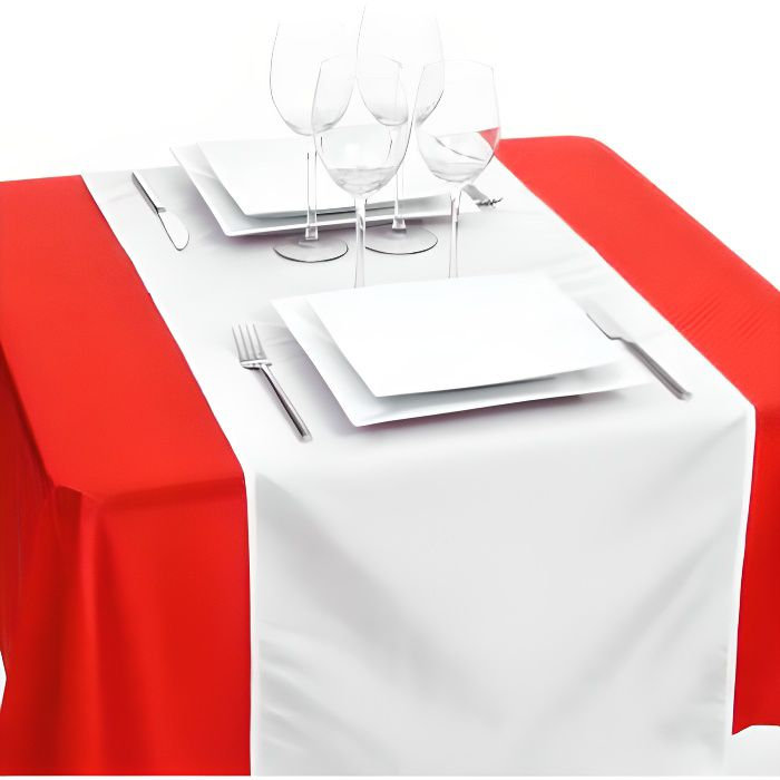 Chemin de table blanc or achat vente chemin de table for Chemin de table or
