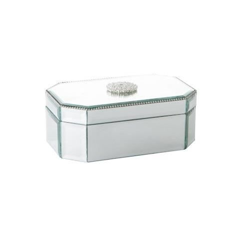 boite a bijoux verre miroir argent achat vente pr sentoir bijoux boite a bijoux verre miroir. Black Bedroom Furniture Sets. Home Design Ideas