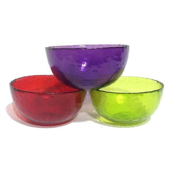 3 petits saladiers coupelles verre de couleur d achat vente saladier cdiscount. Black Bedroom Furniture Sets. Home Design Ideas