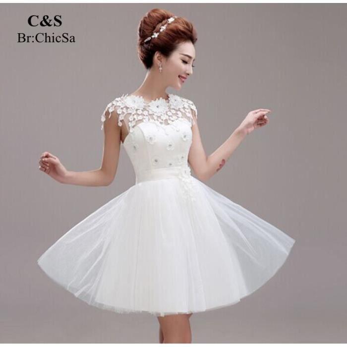 nouvelle arrivee robe de soir e courte vider d rouge blanc achat vente robe de c r monie. Black Bedroom Furniture Sets. Home Design Ideas