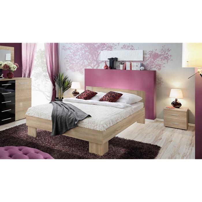 lit vicky 180x200 ch ne de sonoma achat vente lit complet lit vicky 180x200 ch ne de. Black Bedroom Furniture Sets. Home Design Ideas