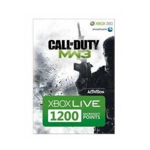 CARTE MULTIMEDIA 1200 MICROSOFT POINTS XBOX LIVE MW3 / XBOX 360